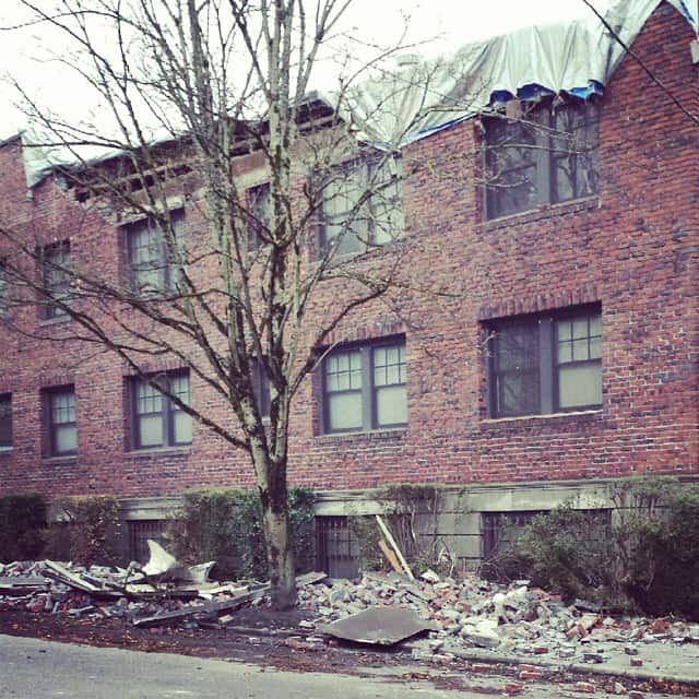 Portland building roof knocked off because of storm