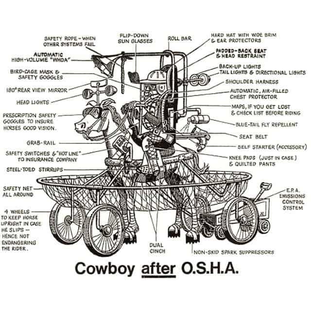 Cowboy after O.S.H.A.