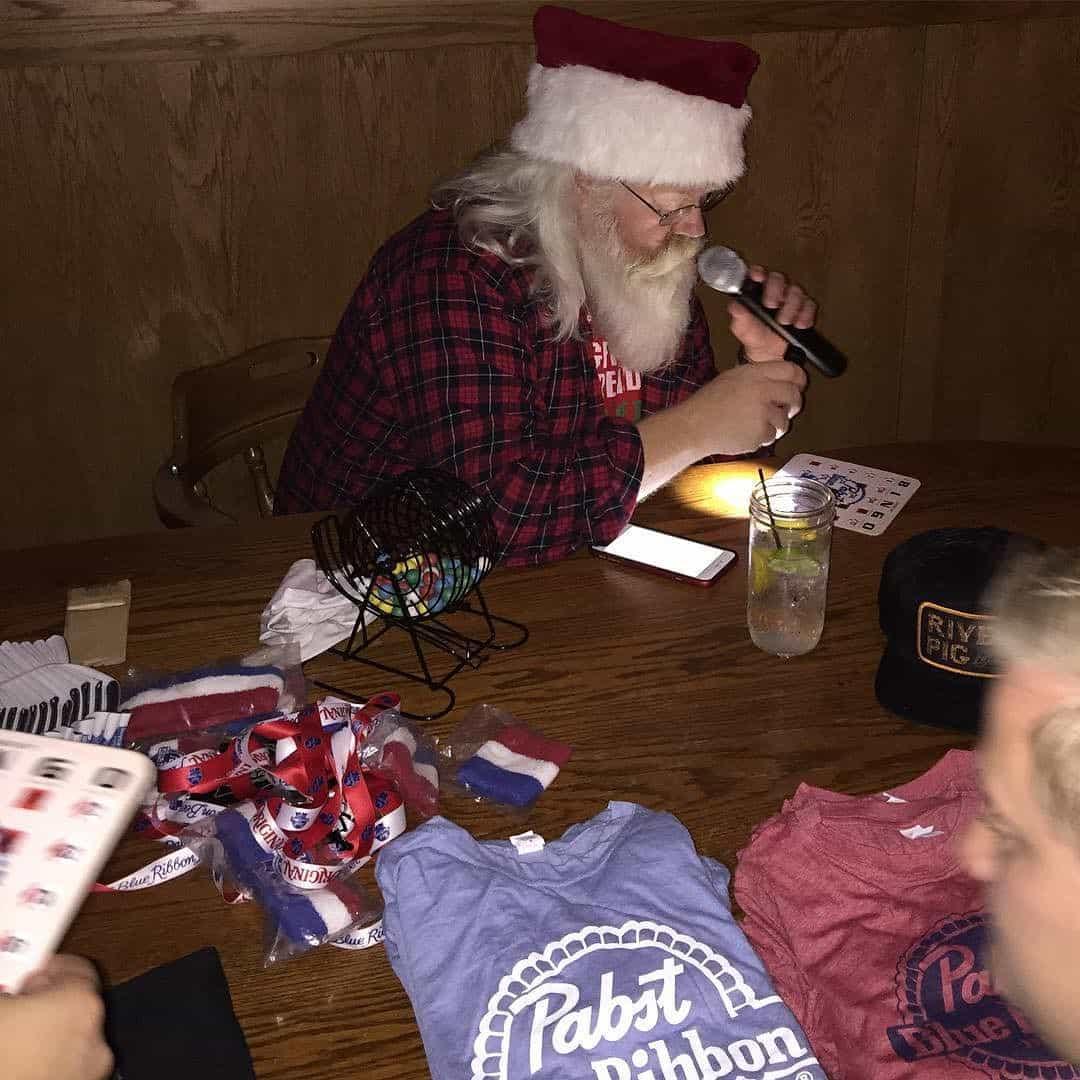 Santa after work