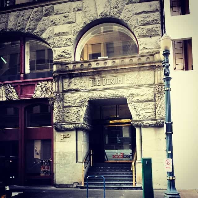 Entrance of the Dekum Building in Portland Oregon