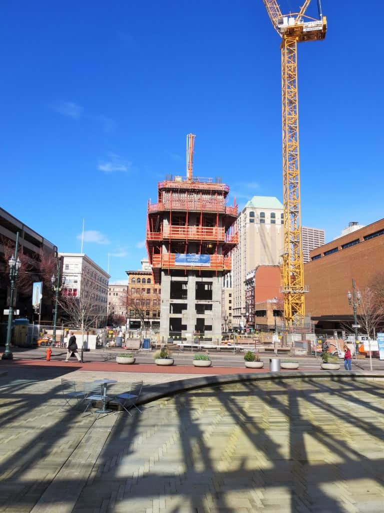Photo of Park Ave West Construction in Portland Oregon