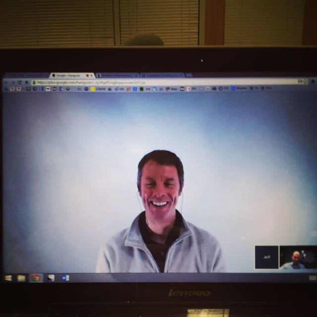 Mike Riscica and Jeff Echols morning video call