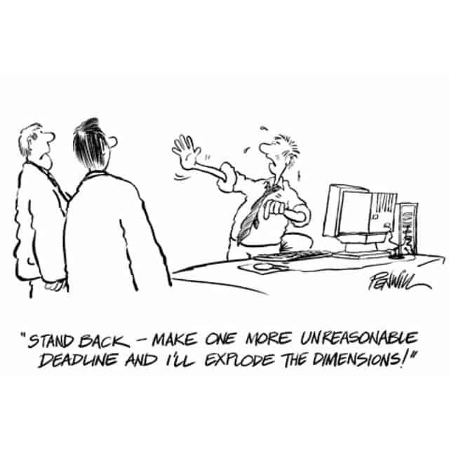 Architect meme about unreasonable deadlines