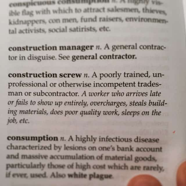 The definition of a 'Construction Screw'