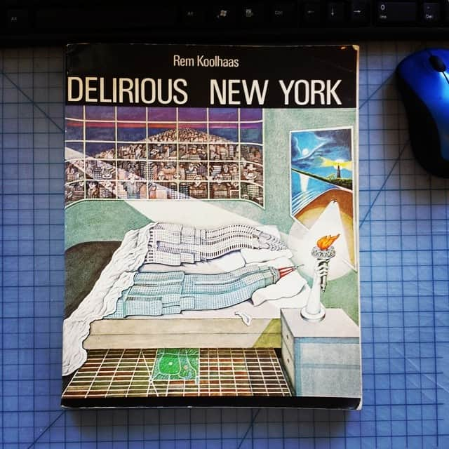 This is the greatest book cover in the history of all book covers. #RemKoolhaas #architecture #nyc #deliriousnewyork