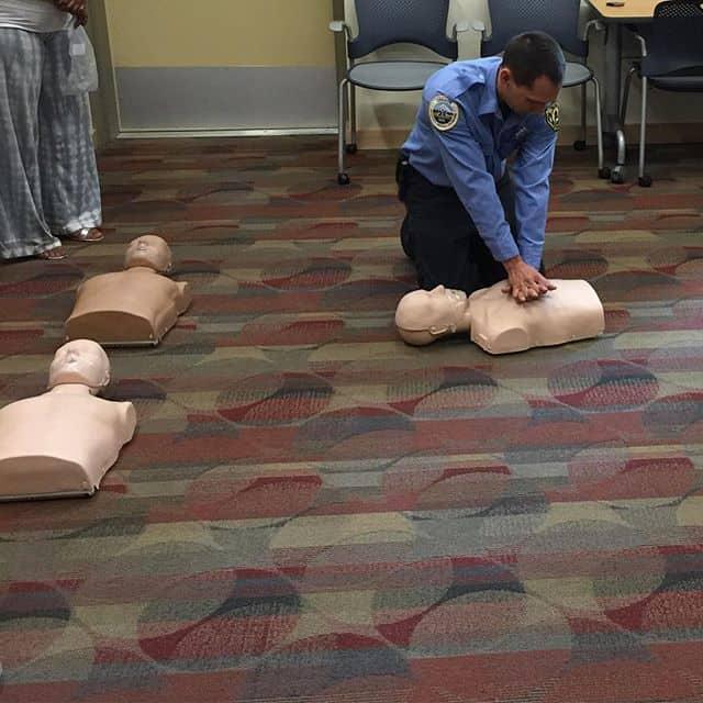 Attending a CPR class