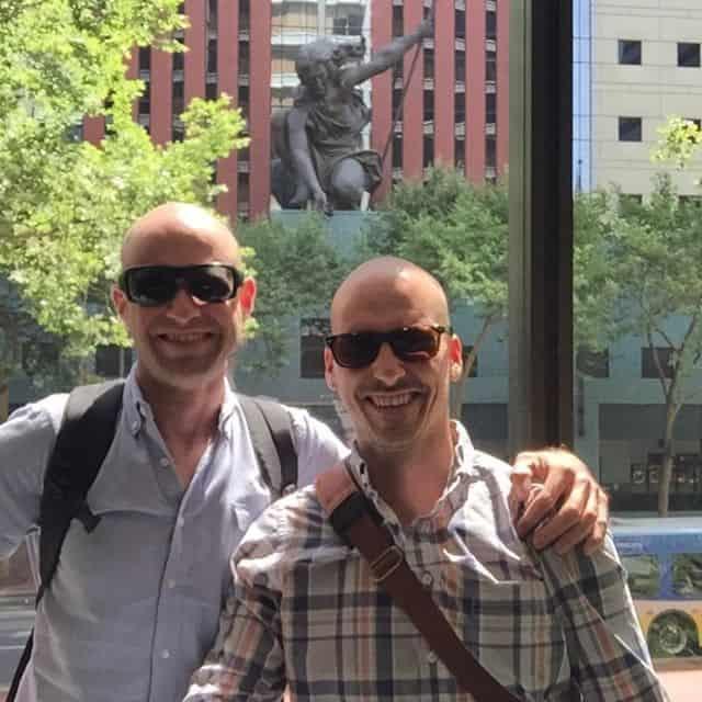 Portland photo with 2 guys