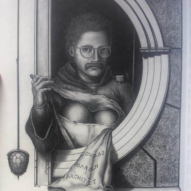 Douglas Darden self-portrait with boobs