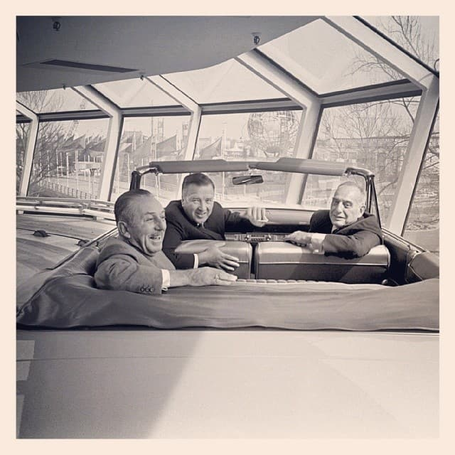 Henry Ford, Walt Disney and Robert Moses hanging out at the worlds fair. I didnt take this picture