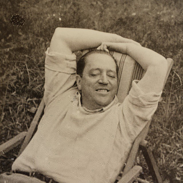 Mies Van Der Rohe chilling and smiling