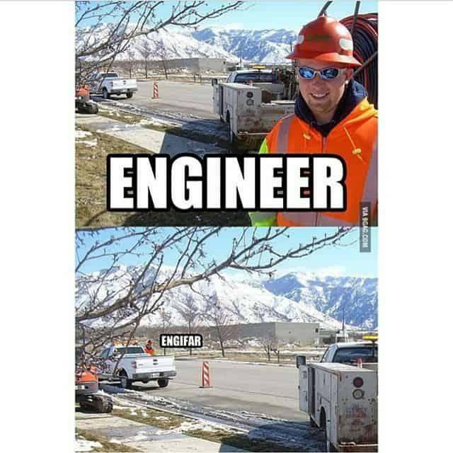 Engineer, engifar joke