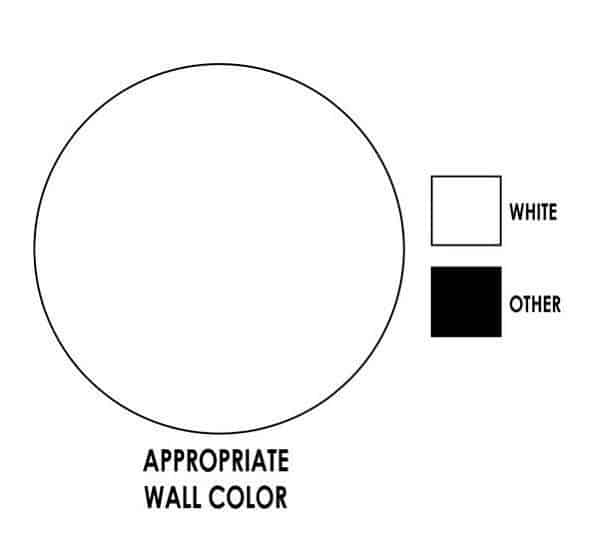 Graphic display on wall color