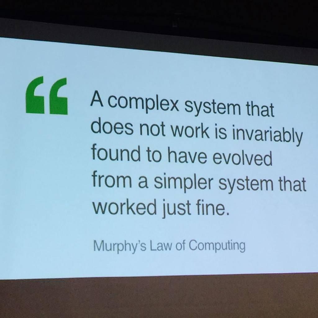Murphy's law of Computing