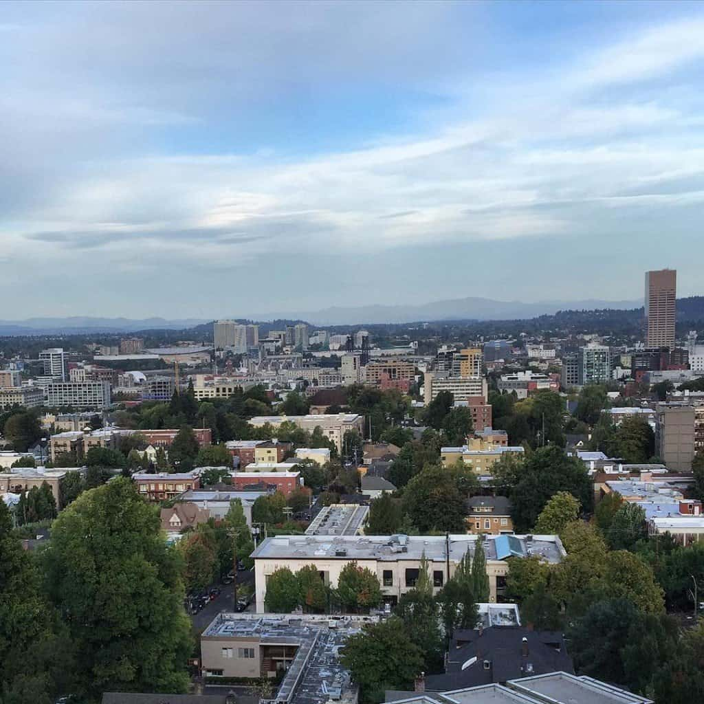View from a balcony in Portland
