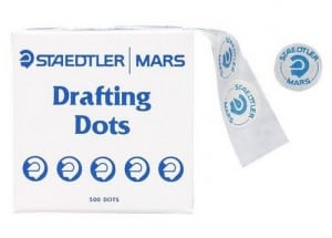 Picture of drafting dots for Architecture model building