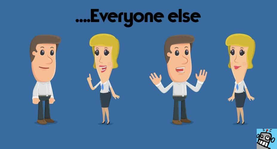 Client tells the manager about his problems. funny cartoon characters in business situations